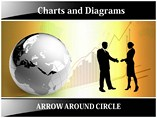 Arrow Around Circle Template PowerPoint