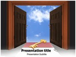 Key of Blue Sky Templates For Powerpoint