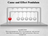 Cause and Effect Pendulum Powerpoint Template