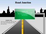 Road Junction Powerpoint Template