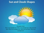 Sun and Clouds Shapes Powerpoint Template