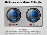 3D Shapes with Meters Collection Templates For Powerpoint