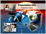 Telecommunication Net Templates For Powerpoint