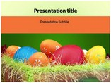 Painted Eggs Templates For Powerpoint
