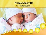 Powerpoint Templates on Twin Baby Birth