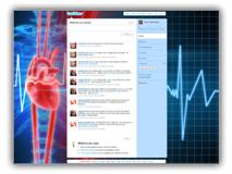 Heart Beat Line Twitter Template  Powerpoint Template