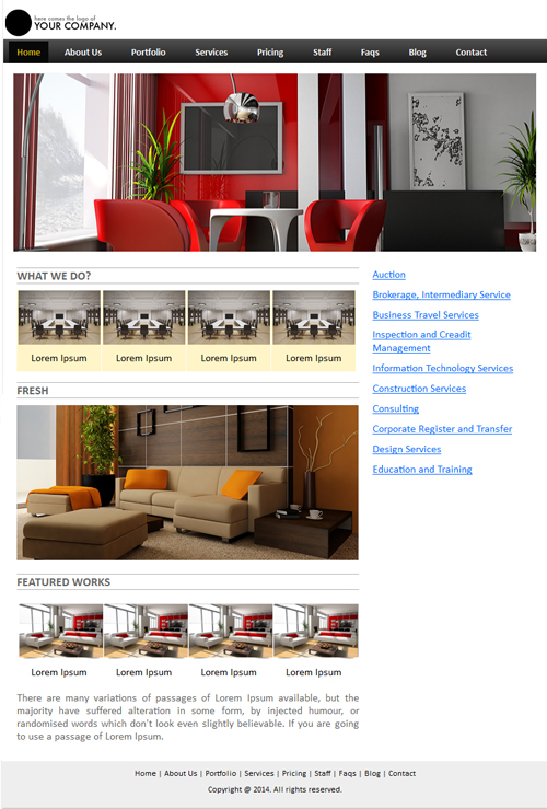 Interior and Furniture Powerpoint Template