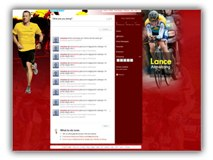 Lance Armstrong Twitter Template Powerpoint Template