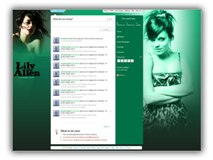 Lily Allen Twitter Template Powerpoint Template