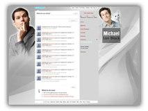 Michael Ian Black Twitter Template Powerpoint Template