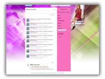 Mischa Barton Twitter Template Powerpoint Template