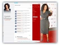 Oprah Winfrey Twitter Template Powerpoint Template