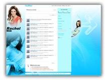 Rachel Bilson Twitter Template Powerpoint Template