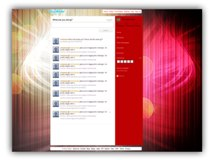 Red Abstract Twitter Template Powerpoint Template