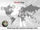 Detailed World Map Templates For Powerpoint