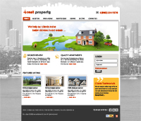 Real Estate Web Templates Powerpoint Template