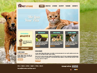 Animal Web Template Powerpoint Template