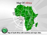 Map of Countries In Africa Templates For Powerpoint
