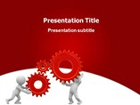 Gear man Templates For Powerpoint