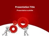 Technology Powerpoint Template    - Gear man