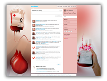 Blood Donation Twitter Template Powerpoint Template