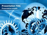 Gears Globe Templates For Powerpoint