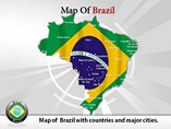 Map Brazil Templates For Powerpoint