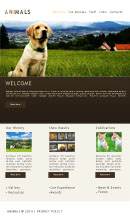 Animal Website Template Powerpoint Template