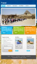 Travels Website Template Powerpoint Template