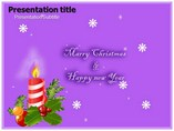merry christmas and new year Powerpoint Template