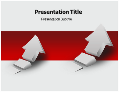 Rising 3d Arrow Powerpoint Template