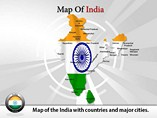 Map of India Templates For Powerpoint