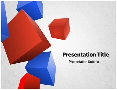 3D Geometric Powerpoint Template