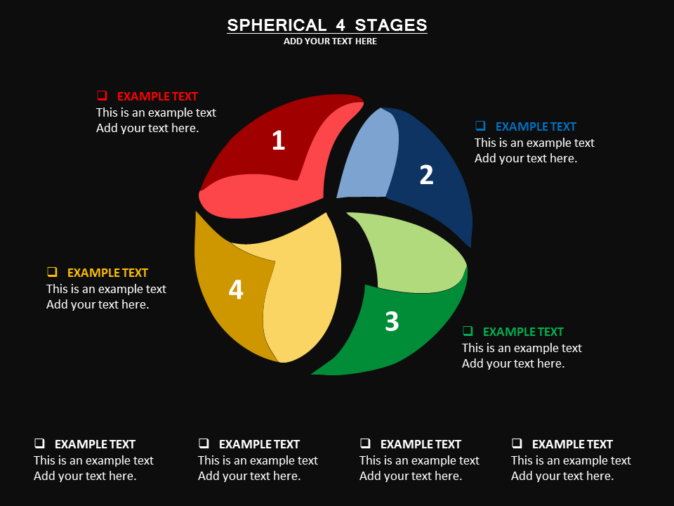 Spherical 4 Stages Powerpoint Template