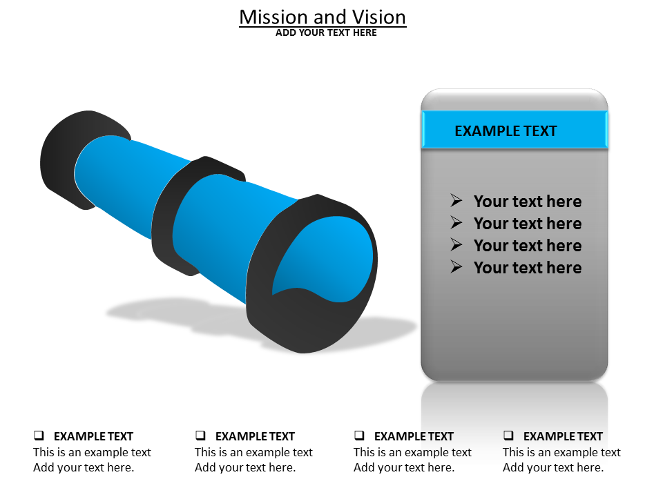 Mission and View Powerpoint Template