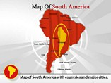Map South America Templates For Powerpoint