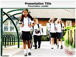 Kids at  School Templates For Powerpoint