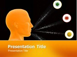 Animated Powerpoint Templates - Pollen Allergy Animated