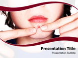 Face Pimples  PowerPoint Template